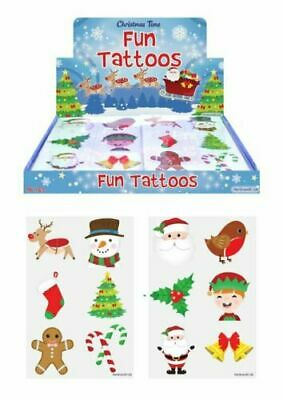 Christmas Tattoos Party Bag Fillers Xmas Eve Box Toy 12 -144 Temporary Tattoos  • 1.25£
