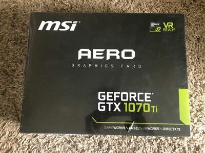 $ CDN490.31 • Buy MSI AERO GEFORCE GTX 1070ti 8GB BRAND NEW UNOPENED