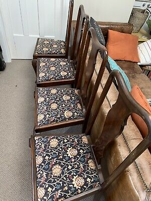 AU80 • Buy 4 Antique Vintage Timber Dining Chairs