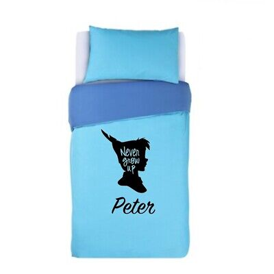 PETER PAN - NEVER GROW UP Duvet Cover &  Pillows Bedding Set PERSONALISED  • 32.99£