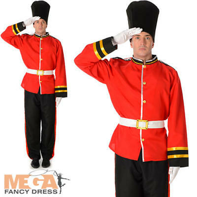 £24.99 • Buy Royal Busby Guard Mens Fancy Dress British London Uniform Adults Costume Outfit