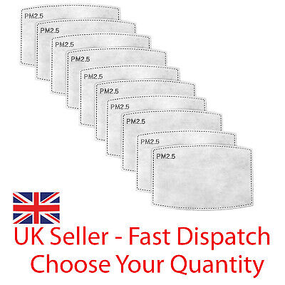 £2.95 • Buy Filters For Face Covering Pm2.5 Mask Charcoal Pollution Filter Multibuy Lot