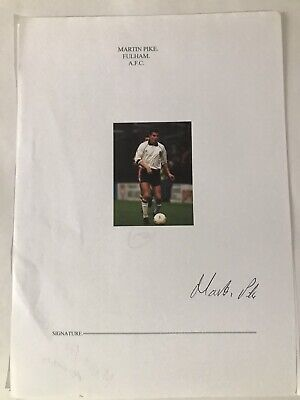 Martin Pike - Fulham Footballer Signed Picture  • 1.99£