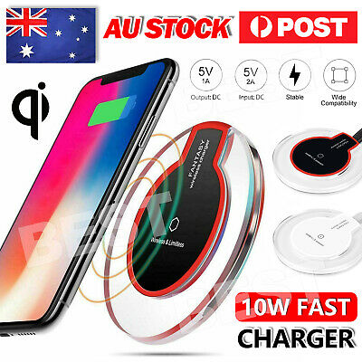 AU5.95 • Buy Wireless Charger Charging Pad For IPhone12 Pro Max XS XR  Samsung S20 S10 9