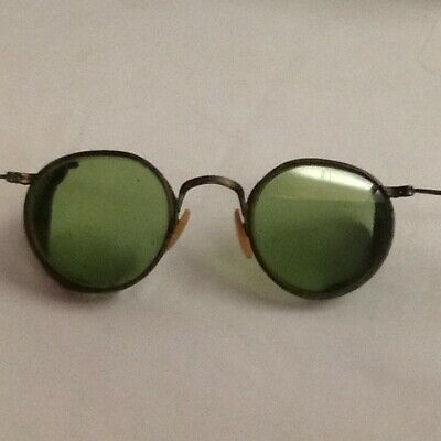 $10 • Buy Antique / Vintage Mesh Side Green Lens Goggles