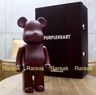 $2629.99 • Buy Medicom Be@rbrick Karimoku Purpleheart Wood 400% Wooden Bearbrick Prupleheart
