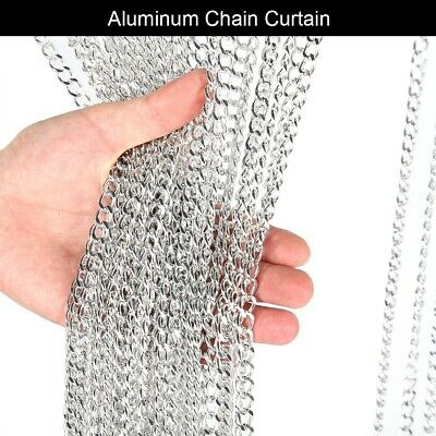 Aluminium Chain Metal Door Curtain Strip Fly Pest Insect Blinds Screen Bedroom • 26.99£