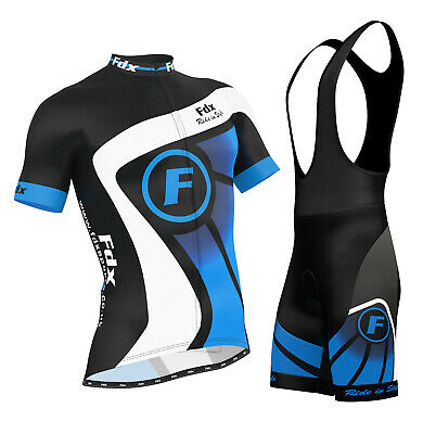 AU44.99 • Buy FDX Mens Cycling Jersey Half Sleeve Top Racing Team Biking Top + Bib Shorts Set