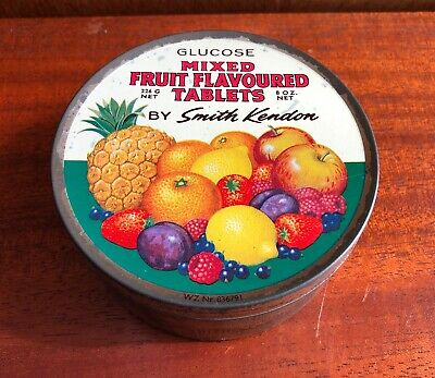 Vintage Advertising Confectionery Tin-Smith Kendon Mixed Fruit Travel Sweets • 7.99£
