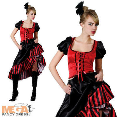 £17.99 • Buy Saloon Girl Ladies Fancy Dress Burlesque Showgirl 20s Red Can Can Adults Costume