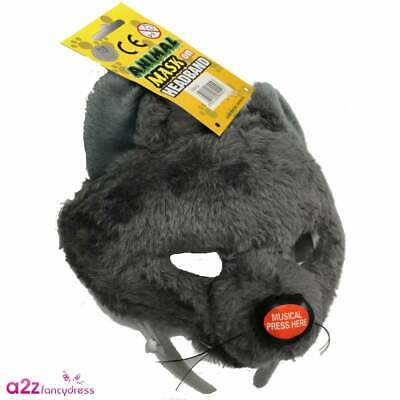 £8.95 • Buy Rat Mask With Squeak Boys Girls Rodent Mouse Halloween Fancy Dress Accessory