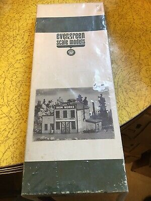 $ CDN20.11 • Buy Ho Scale Train Iron Works Building By Evergreen Scale Models