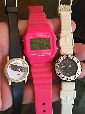 $ CDN26.80 • Buy Timex Ladies Lot Cool Vintage Sport Sunglasses And Hot Pink Digital All Running