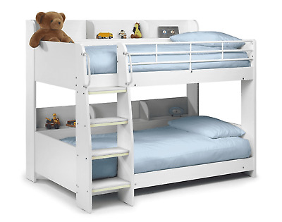 Lovely Julian Bowen Domino White Bunk Bed With Shelves  Cost £400! ** Reduced ** • 189£