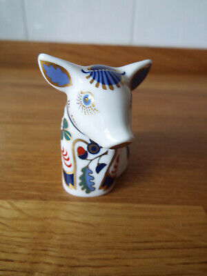 Royal Crown Derby Sitting Piglet - First Quality With Gold Stopper • 40£
