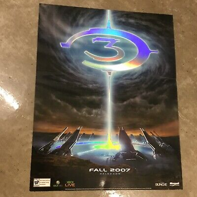 £1828.82 • Buy Halo 3 Extremely Rare Embossed Promo Poster Xbox New Condition Master Chief