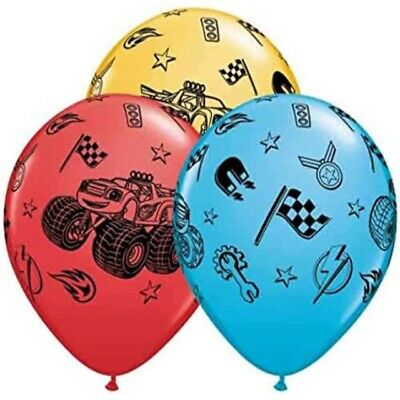 Set Of 12 Blaze And The Monster Machines 12'' Latex Party Balloons Decoration. • 3.79£