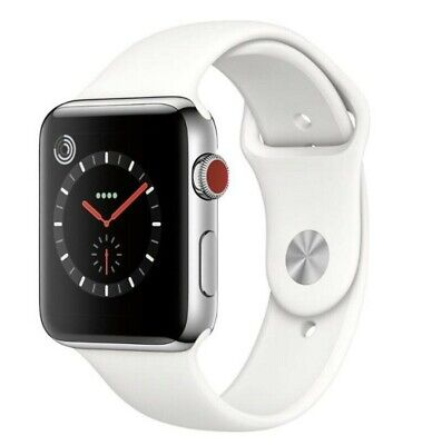 $ CDN284.11 • Buy Apple Watch Series 3 42mm Stainless Steel Case (GPS + Cellular)