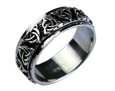 £36.50 • Buy 925 Silver Spinning Celtic Triquetra Design Ring Size Y1/2 Free Gift Bag Stress