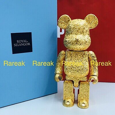 $2988.99 • Buy Medicom 2020 Be@rbrick Royal Selangor Arabesque Gold 400% Pewter Bearbrick