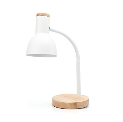 PINSOON LED Desk Lamp With Flexible Goose-Neck 2 Bulb Energy Saving For Bedside • 27.63£