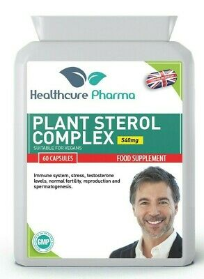 Plant Sterols Complex 540mg 60 Capsule Prostate UK • 11.89£