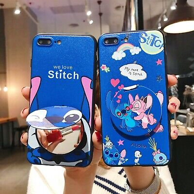 AU5.96 • Buy Classic Stitch Makeup Mirror Bracket Cute Cartoon Case Cover For Various Phone
