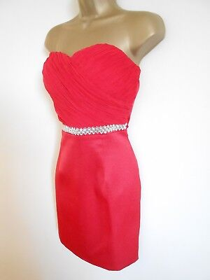 EVA & LOLA BNWT Size 10 Red Dress Cocktail Party Prom  • 5.99£