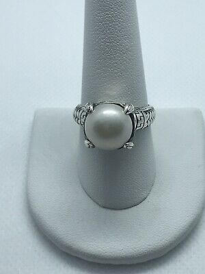 $32 • Buy Sterling Silver Artisan Crafted White Mabe Pearl Ring Sz 9 New