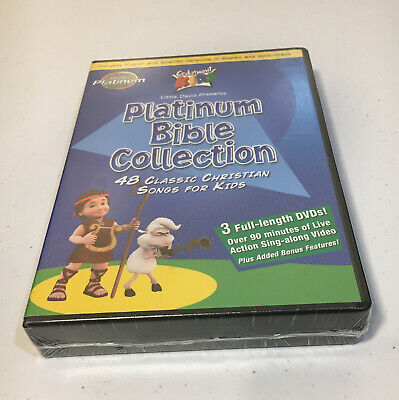 AU25.84 • Buy Cedarmont Kids Platinum Bible Collection NEW 3 DVDs Christian Songs For Kids