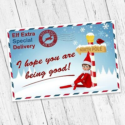£2.49 • Buy Personalised Christmas Elf For Your Shelf Postcard / Good Bye Note Accessories