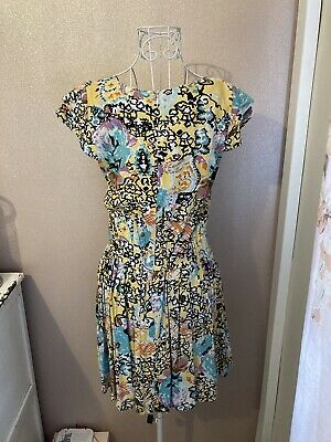 £8.50 • Buy Gorgeous Ruby Rocks Dress Small, Size 10 Yellow, Blue Excellent Condition