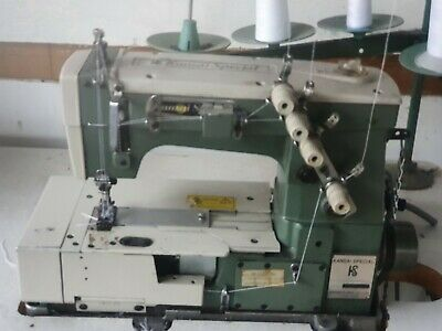 Kansai Special Twin Needle 3 Thread Cover Stitch Industrial Sewing Machine • 495£