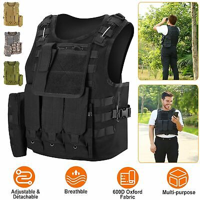 $29.20 • Buy Tactical Vest Military Airsoft Paintball Vest Plate Camouflage Combat  Hunting
