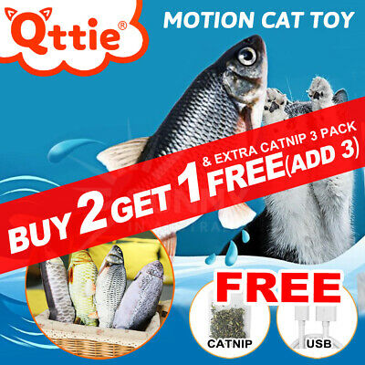 AU11.25 • Buy Electric Cat Toy Wagging Fish Kicker Realistic Short Plush Simulation Kids Toy