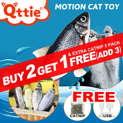 AU12.25 • Buy Electric Dancing Fish Kicker Cat Toy Wagging Realistic Moves USB Rechargeable AU
