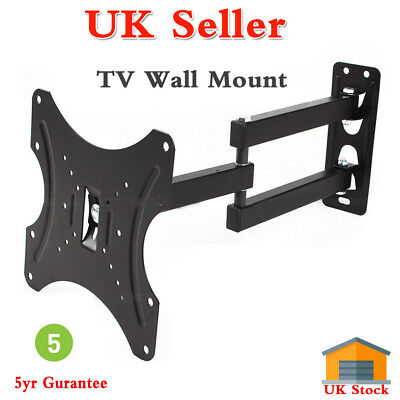 Tilt Swivel TV Wall Mount Bracket For 10-32In LCD LED Plasma Flat Monitor Black • 8.79£