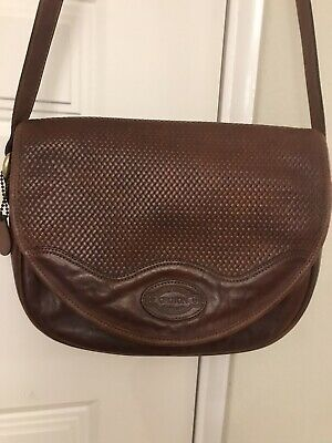AU45 • Buy Vintage OROTON Brown Leather Shoulder Bag MADE IN AUSTRALIA