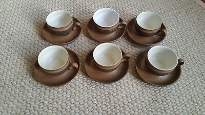 £25 • Buy Denby China Acorn Pattern Cups And Saucers X 6