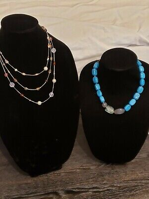 $ CDN25.05 • Buy  LIA SOPHIA Lot Of 2 Necklaces One Chunky & One 3 Tier New 16 +