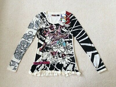 New Desigual Long Sleeve Top Size S • 25£