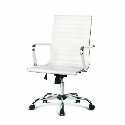 AU169.64 • Buy Artiss Eames Replica Office Chair Leather Executive Computer Desk Chairs White