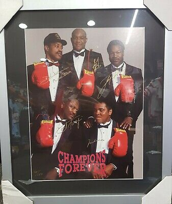 AU1995 • Buy Authentic Signed Boxing Poster Champions Forever Framed