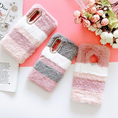 AU7.96 • Buy Warm Plush Color Splicing Girl Women Fashion Soft Phone Case Cover For OPPO VIVO