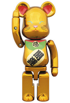 $235 • Buy BEARBRICK Maneki Neko Chogokin 200% Gold Lucky Cat 2 BE@RBRICK  Medicom Toy