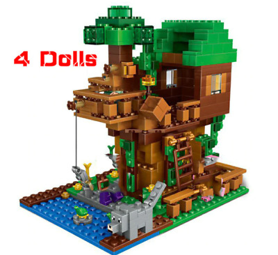 Lego Minecraft The Free House Small Building Blocks Sets 250 Free Shiping        • 14.23£