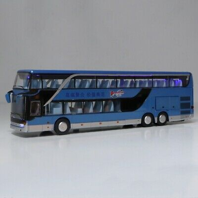 $ CDN34.16 • Buy Electric 1:50 Alloy Double-decker Bus Model Toys With Light Music(Blue)