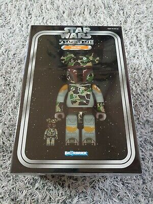 $779 • Buy BEARBRICK BAPE BOBA FETT 100%&400% BE@RBRICK Star Wars