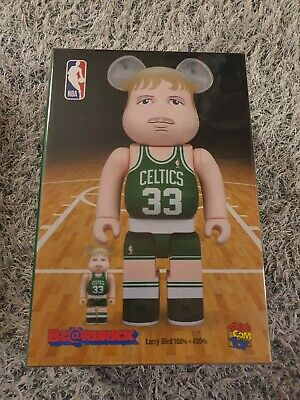 $269 • Buy BEARBRICK Larry Bird 100%&400% BE@RBRICK Medicom Toy NBA Boston Celtics