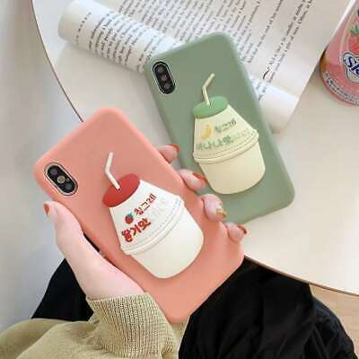 AU5.95 • Buy Hot Cute Strawberry Milk Fashion Creative Silicone Case Cover For Various Phone